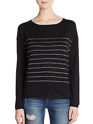 Emmy Lou Metallic Stripe Sweater