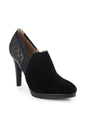 Darla Suede & Leather Gore Zip Booties