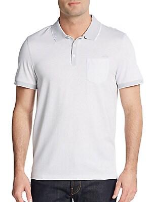 Cotton Jersey Pocket Polo Shirt