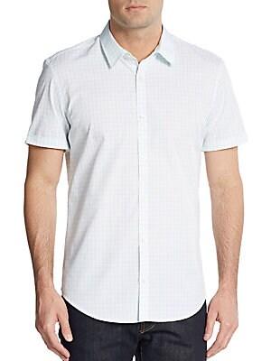 Grid Print Cotton Shirt