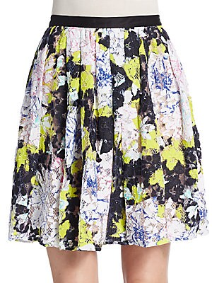 Botanical Lace Pleated Skirt