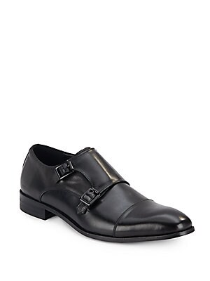 Buckle Leather-Blend Oxfords