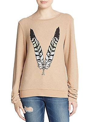 Feather Graphic Sweatshirt
