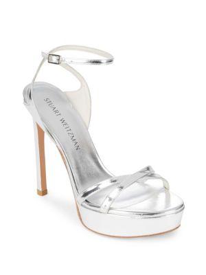 Bebare Leather Ankle-Strap Sandals Stuart Weitzman