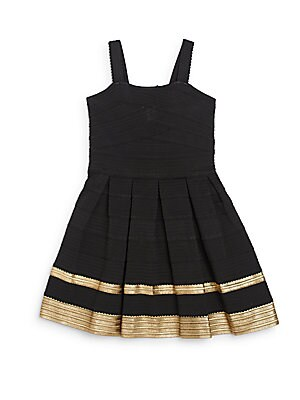 Girl's Textured Fit-And-Flare Dress