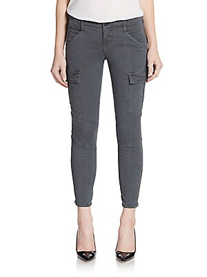 Cropped Skinny Cargo Pants