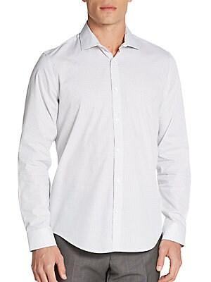 Regular-Fit Mini Neat Print Sportshirt
