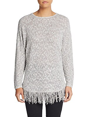 Boucle Fringe Pullover