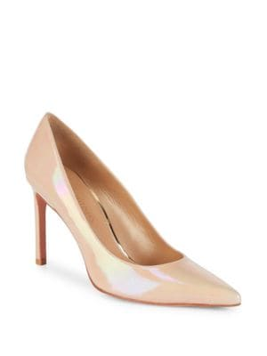 DAISY ANILINE LEATHER POINT-TOE PUMPS