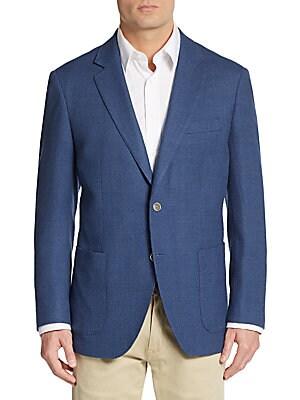 Slim-Fit Textured Wool Sport Coat