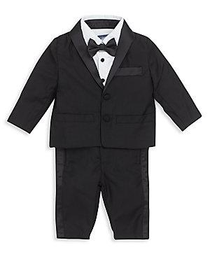 Baby's Three-Piece Tuxedo Suit Jacket, Pants & Bow Tie Set