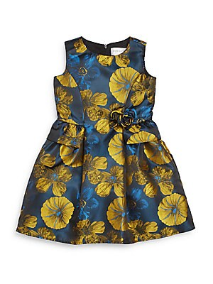 Toddler's & Little Girl's Floral Print Peplum Dress