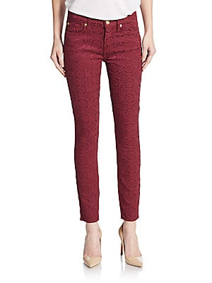 Gwenevere Embroidered Skinny Ankle Jeans