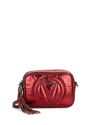 Mia Metallic Leather Mini Crossbody