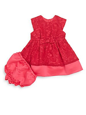Baby's Lace Dress & Bloomer Set