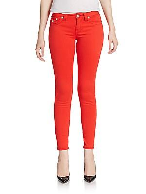 Swarovski Crystal-Embellished Legging Jeans
