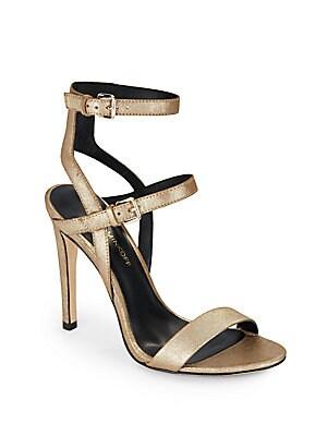 Rosalie Metallic Leather Sandals