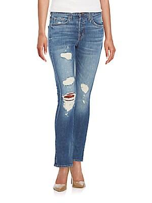 Georgia Distressed Slim Boyfriend Jeans
