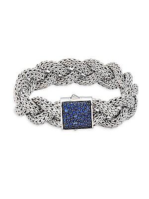 Blue Sapphire & Sterling Silver Bracelet