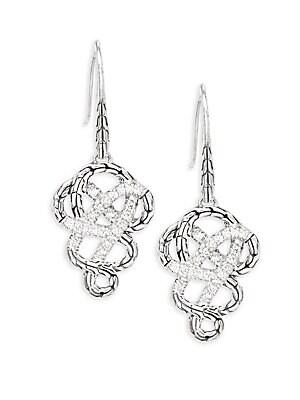 Classic Chain White Diamond Drop Earrings