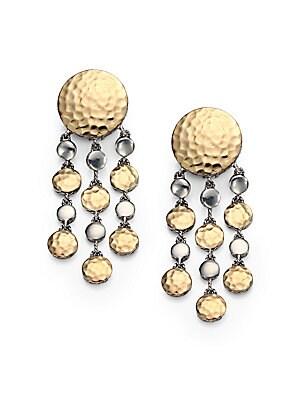 Palu 18K Yellow Gold & Sterling Silver Dot Chandelier Earrings