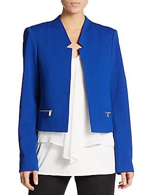 Textured Zip-Trim Jacket