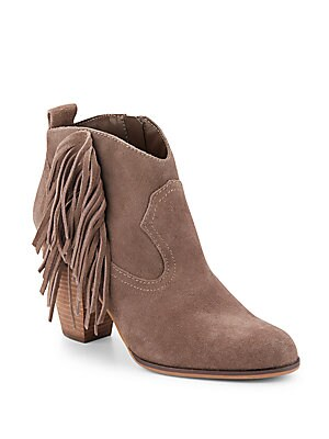 Ohio Fringed Suede Ankle Boots