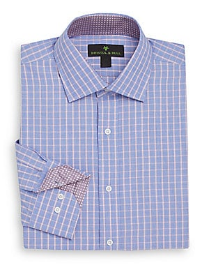 Windowpane-Check Dress Shirt
