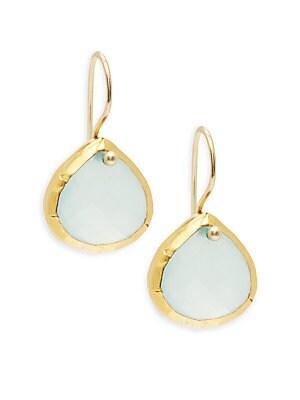 24K Yellow Gold Dangle Earrings
