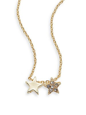 Star Pendant Necklace/Goldtone