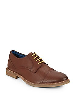Leon Perforated Leather Oxfords