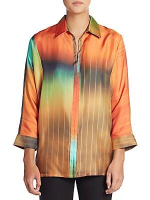 Oversized Silk Twill Shirt