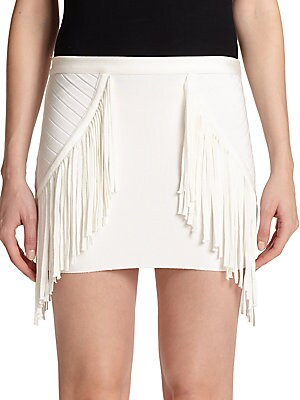 Phyllis Fringe Mini Skirt