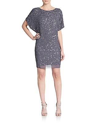 Dolman-Sleeve Beaded Dress