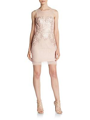 Abigail Sequined Lace Knit Dress