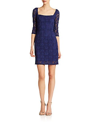 Lace Squareneck Sheath Dress