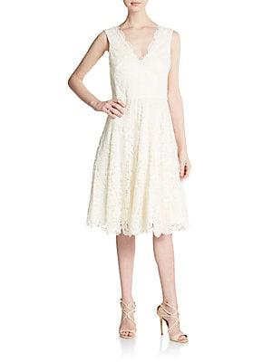 Scarlet Lace A-Line Dress