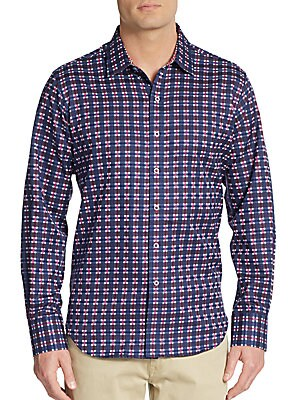 Old Town Printed Cotton Sport Shirt