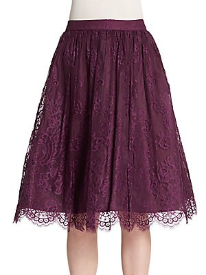 Perkins Lace Pouf Skirt