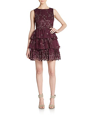Rowley Embellished Tiered Dress