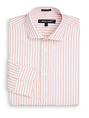 Slim-Fit Striped Dress Shirt