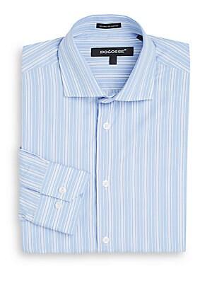 Slim-Fit Multi-Stripe Dress Shirt