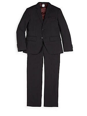 Little Boys  Boys Slim Fit Solid Wool Suit
