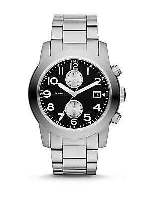 Stainless Steel Two-Eye Chronograph Watch