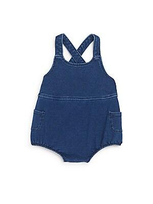 Baby's Knit Denim Bubble Bodysuit