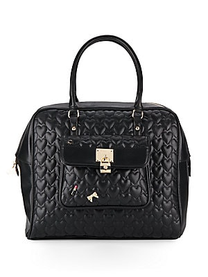 Be My Baby Quilted Faux Leather Satchel