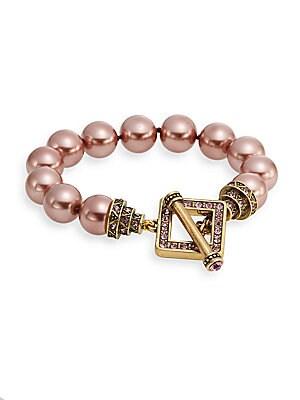 Classically Classic Faux Pearl Cuff Bracelet