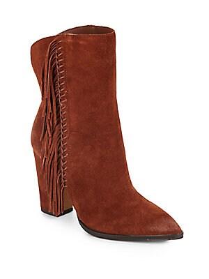 Ileen Suede Fringe Boots