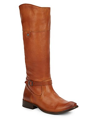 Shirley Rivet Leather Riding Boots