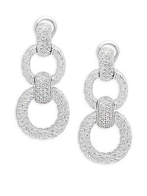 Textured Chain Diamond Earrings